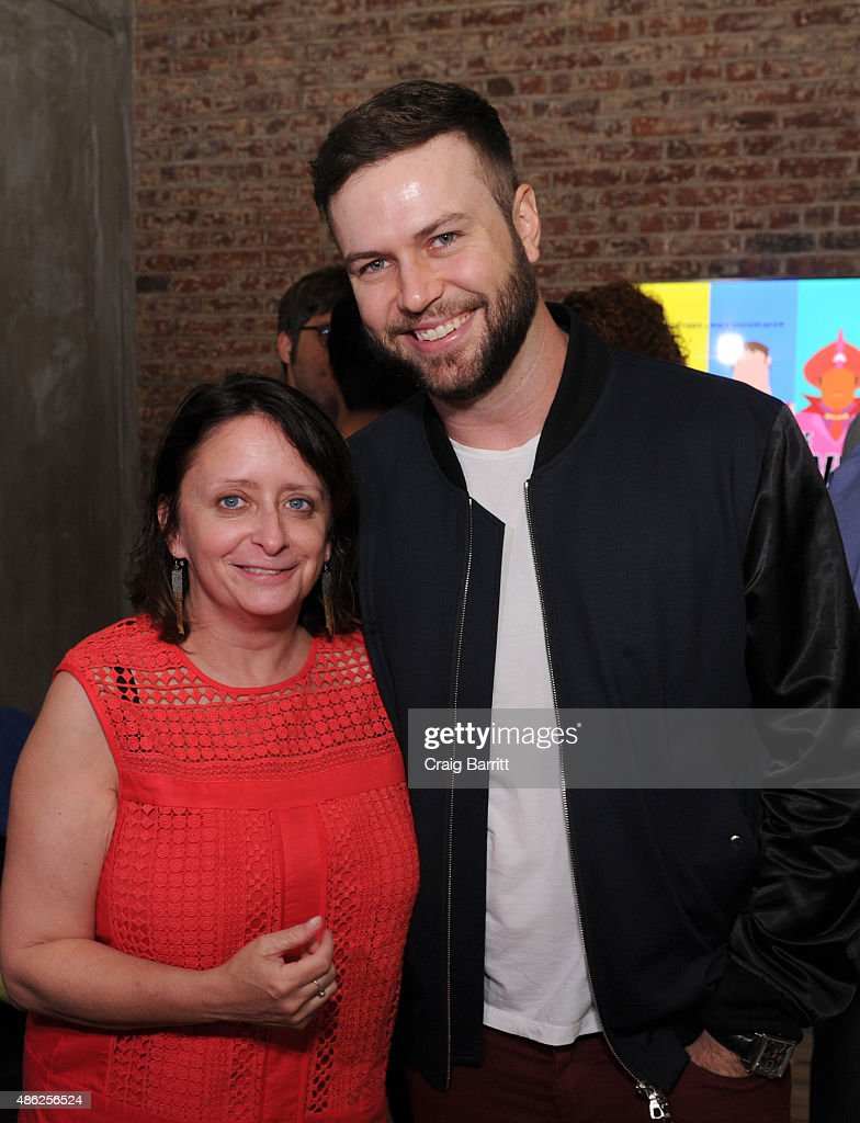 Rachel Dratch and Taran Killam attend 'The Awesomes' Season 3 Premiere Party & Screening at Microsoft Lounge on September 2, 2015 in New York City.