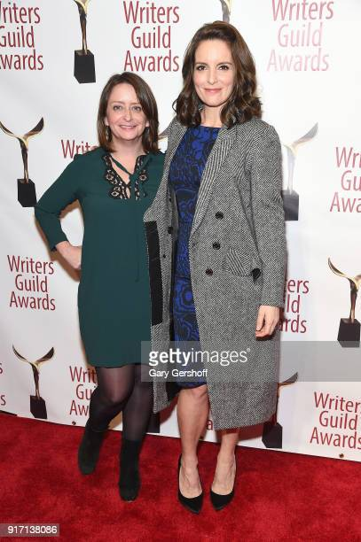 Rachel Dratch and Tina Fey attend the 2018 Writers Guild Awards at Edison Ballroom on February 11 2018 in New York City