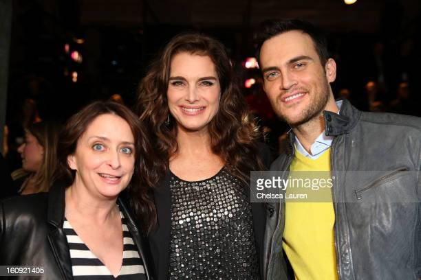 Rachel Dratch Brooke Shields and Cheyenne Jackson attend the Kenneth Cole Collection Fall 2013 fashion show during MercedesBenz Fashion Week at 537...