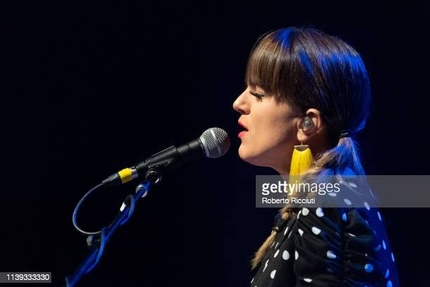 Rachel Eckroth performs on stage at Glasgow Royal Concert Hall on April 25 2019 in Glasgow Scotland