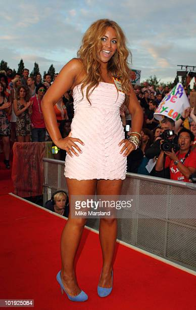 Rachel enters The Big Brother House for the 11th and final series at Elstree Studios on June 9 2010 in Borehamwood England