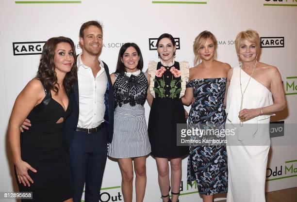 Rachel Feinstein Sean Kleier KK Glick Jill Kargman Abby Elliot and Joanna Cassidy attend The Cinema Society Hosts The Season 3 Premiere Of Bravo's...