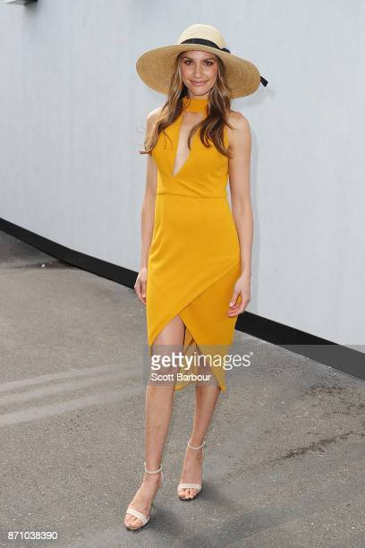 Rachel Finch attends the MYER Marquee on Melbourne Cup Day at Flemington Racecourse on November 7 2017 in Melbourne Australia