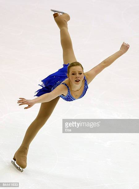 Rachel Flatt competes in the ladies free skate during the AT&T US Figure Skating Championships on January 24, 2009 at the Quicken Loans Arena in...