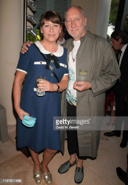 "Rachel Fuller and Pete Townshend attend the first ""Midsummer Party"" hosted by Elton John and David Furnish to raise funds for the Elton John Aids..."