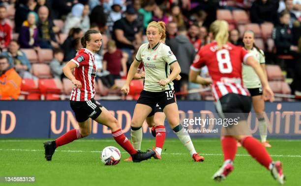 Rachel Furness of Liverpool Women during the Barclays FA Women's Championship match between Sheffield United Women and Liverpool Women at Bramall...