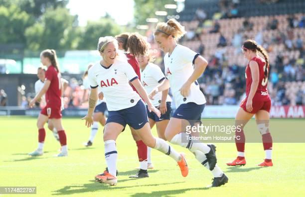 Rachel Furness of Tottenham Hotspur Women celebrates after scoring their first goal during the Barclays FA Women's Super League match between...