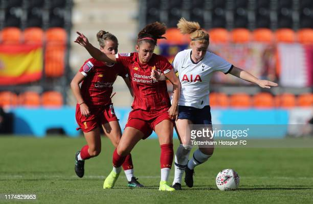 Rachel Furness of Tottenham Hotspur Women during the Barclays FA Women's Super League match between Tottenham Hotspur and Liverpool at The Hive on...