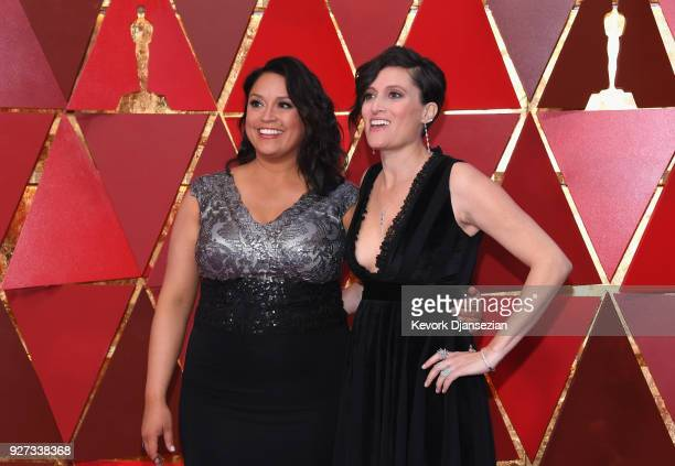 Rachel Garza and cinematographer Rachel Morrison attend the 90th Annual Academy Awards at Hollywood Highland Center on March 4 2018 in Hollywood...