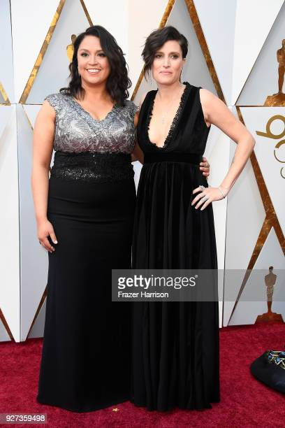 Rachel Garza and Rachel Morrison attends the 90th Annual Academy Awards at Hollywood Highland Center on March 4 2018 in Hollywood California