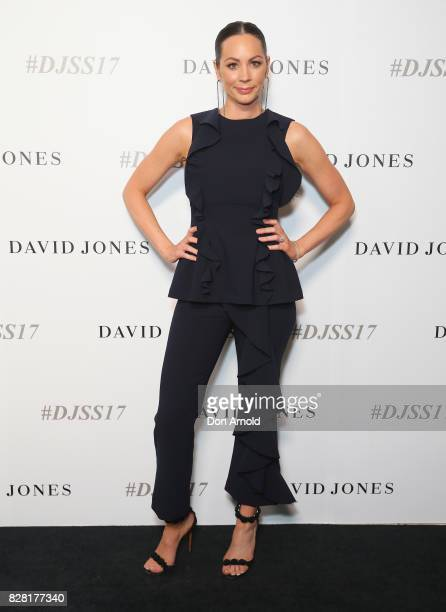 Rachel Gilbert arrives ahead of the David Jones Spring Summer 2017 Collections Launch at David Jones Elizabeth Street Store on August 9 2017 in...