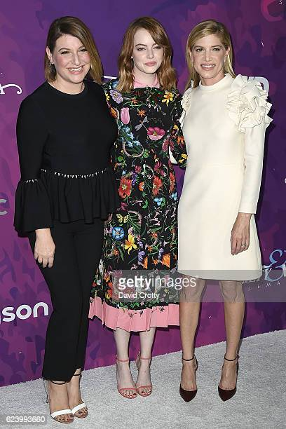 Rachel Goodwin Emma Stone and Petra Flannery attend the Variety WWD Host Second Annual StyleMakers Awards Arrivals at Quixote Studios West Hollywood...