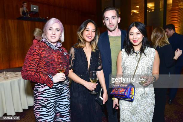 Rachel Goss Erin Kim Collin Munn and Alexandria Pang attend Art Production Fund's Bright Lights Big City Gala at Seagram Building on March 13 2017 in...