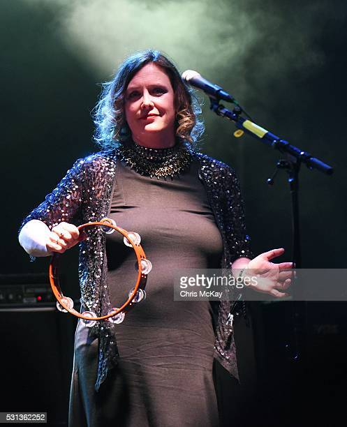 Rachel Goswell of Slowdive performs at Shaky Knees Music Festival at Centennial Olympic Park on May 13 2016 in Atlanta Georgia