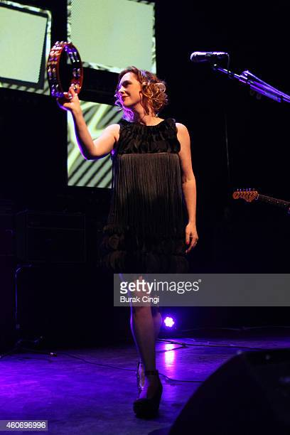 Rachel Goswell of Slowdive performs on stage at The Forum on December 19 2014 in London United Kingdom