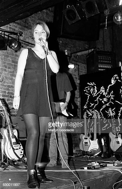 Rachel Goswell of Slowdive performs on stage United Kingdom 1990