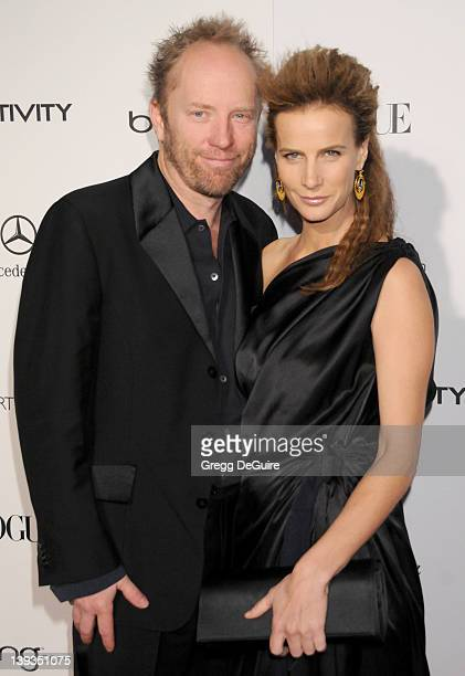 Rachel Griffiths and Andrew Taylor arrive at The Art Of Elysium's 4th Annual Black Tie Charity Gala Heaven at The Annenberg Building at the...