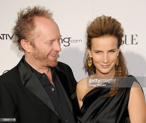 """Rachel Griffiths and Andrew Taylor arrive at The Art Of Elysium's 4th Annual Black Tie Charity Gala """"Heaven"""" at The Annenberg Building at the..."""