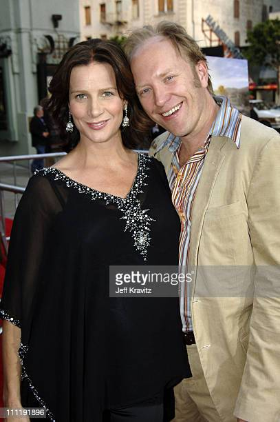 Rachel Griffiths and Andrew Taylor during HBO's 'Six Feet Under' Season 5 Premiere Red Carpet at Grauman's Chinese Theater in Hollywood California...