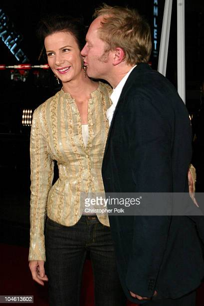 Rachel Griffiths and Andrew Taylor during LA Premiere of HBO's series Six Feet Under at Grauman's Chinese Theatre in Hollywood CA United States