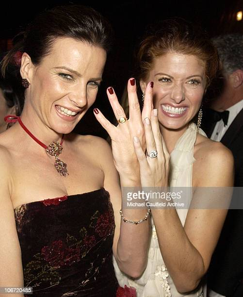 Rachel Griffiths and Debra Messing during InStyle Magazine Hosts Fourth Annual PostGolden Globes Party to Honor Hollywood's Elite Inside at Beverly...