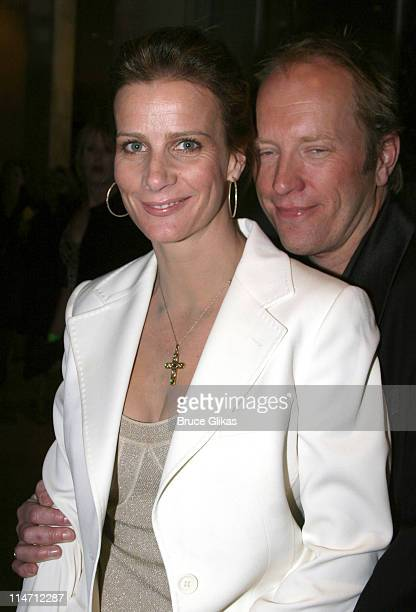 Rachel Griffiths and guest during Paramount Pictures Hosts 2007 Golden Globe Award AfterParty at Beverly Hilton Hotel in Beverly Hills California...