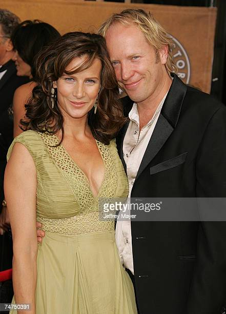 Rachel Griffiths and husband Andrew Taylor at the Shrine Expo Hall in Los Angeles California