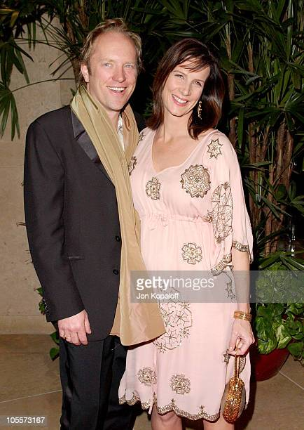 Rachel Griffiths and husband Andrew Taylor during 7th Annual Costume Designers Guild Awards Arrivals at Beverly Hilton Hotel in Beverly Hills...