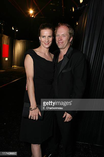 Rachel Griffiths and husband Andrew Taylor during MOCA's Opening Night Fete For The Skin Bones Exhibition Sponsored By Infiniti With Champagne...
