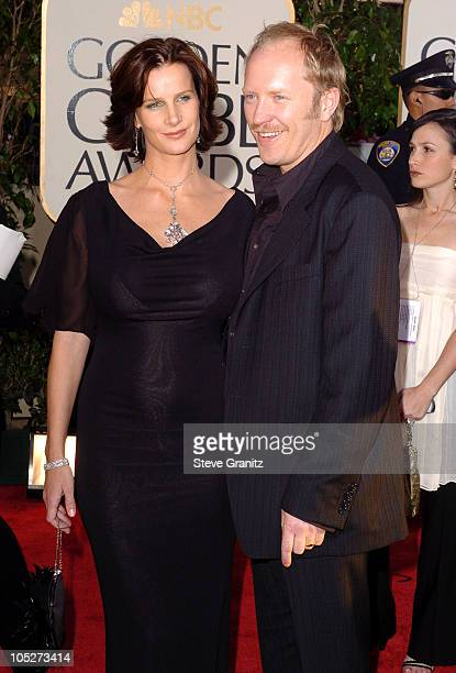 Rachel Griffiths and husband Andrew Taylor during The 61st Annual Golden Globe Awards Arrivals at The Beverly Hilton in Beverly Hills California...