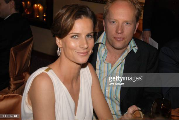 Rachel Griffiths and husband during HBO Screen Actors Guild Party at Spago in Beverly Hills CA United States