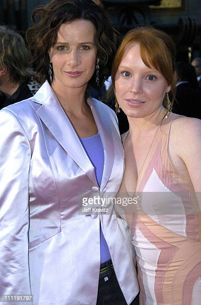 Rachel Griffiths and Lauren Ambrose during HBO's Series 'Six Feet Under' Season Four Los Angeles Premiere Arrivals at Mann's Chinese Theater in...
