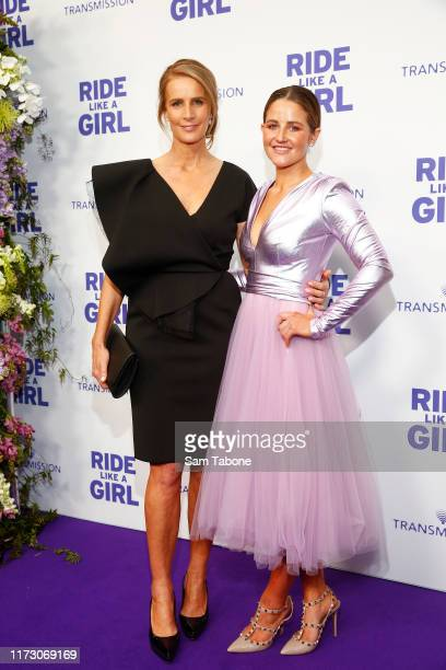 Rachel Griffiths and Michele Payne attends the world premiere of RIDE LIKE A GIRL at Village Jam Factory on September 08 2019 in Melbourne Australia