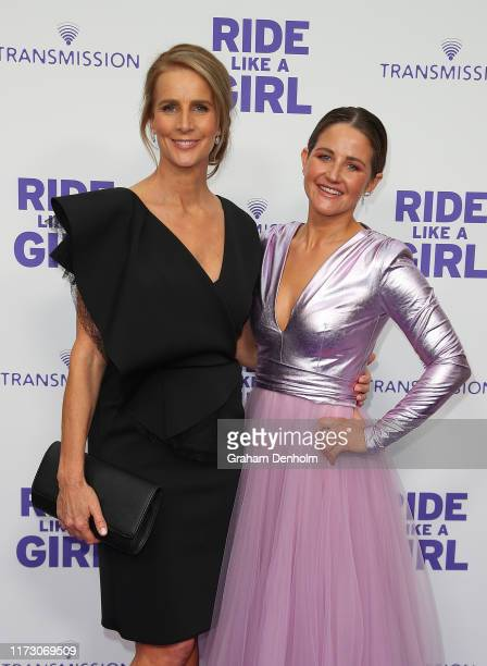 Rachel Griffiths and Michelle Payne attend the world premiere of RIDE LIKE A GIRL at Village Jam Factory on September 08 2019 in Melbourne Australia