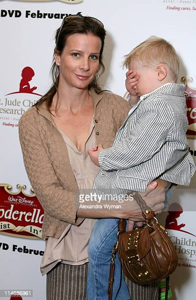 Rachel Griffiths and son during Cinderella III A Twist in Time DVD Release Benefiting St Jude Children's Research Hospital at Wyndham Bel Age Hotel...
