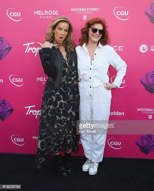 Rachel Griffiths and Susan Sarandon arrive at Tropfest on February 17 2018 in Sydney Australia