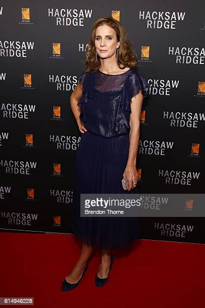 Rachel Griffiths arrives ahead of the Australian premiere of Hacksaw Ridge at State Theatre on October 16 2016 in Sydney Australia