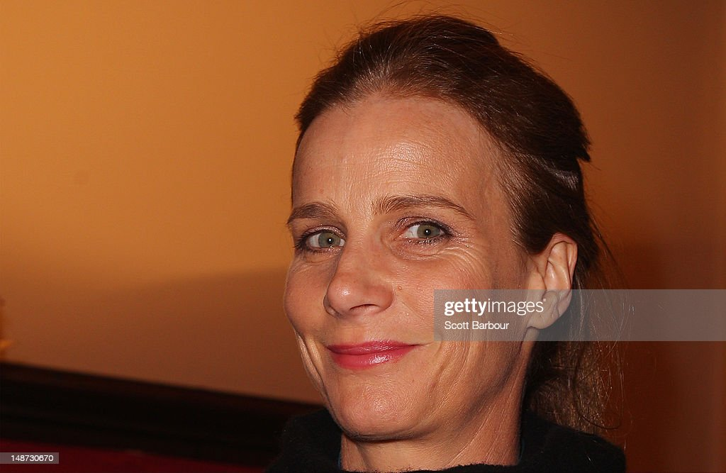 Rachel Griffiths arrives at the opening night of Barry Humphries' Eat, Pray, Laugh show show at Her Majestys Theatre on July 19, 2012 in Melbourne, Australia.