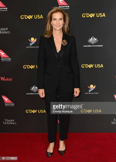 Rachel Griffiths attends 2018 G'Day USA Los Angeles Black Tie Gala at InterContinental Los Angeles Downtown on January 27 2018 in Los Angeles...