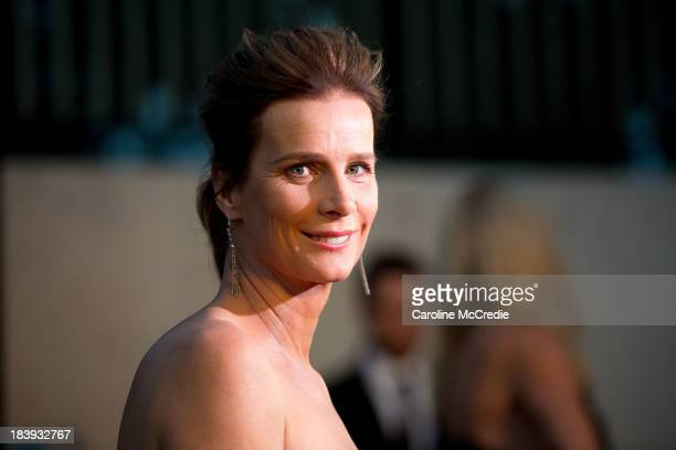 Rachel Griffiths attends the ATC Grandstand Gala Launch event to celebrate the new Australian Turf on October 10 2013 in Sydney Australia