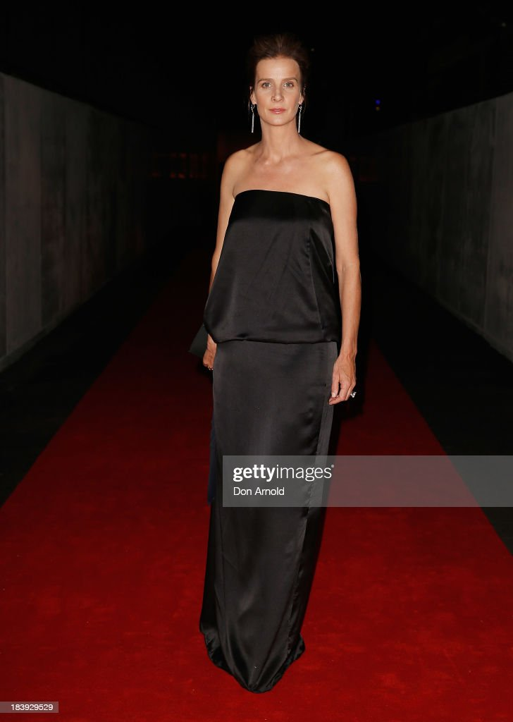 Rachel Griffiths attends the Gala Launch event to celebrate the new Australian Turf Club Grandstand at Royal Randwick Racecourse on October 10, 2013 in Sydney, Australia.