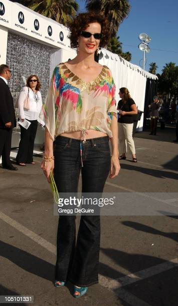 Rachel Griffiths during Motorola Suite at the 18th Annual IFP Independent Spirit Awards at Santa Monica Beach in Santa Monica California United States