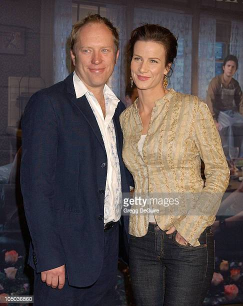 Rachel Griffiths with husband Andrew Taylor during Los Angeles Premiere of HBO's 'Six Feet Under' at Grauman's Chinese Theatre in Hollywood...