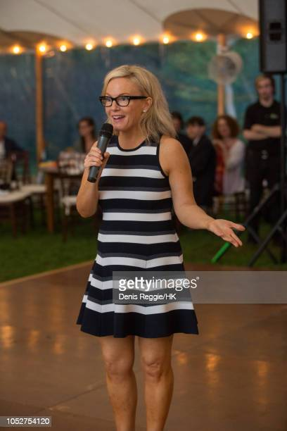 Rachel Harris toasting couple at the Cheryl Hines and Robert F Kennedy Jr Wedding at a private home on Saturday August 2 in Hyannis Port...