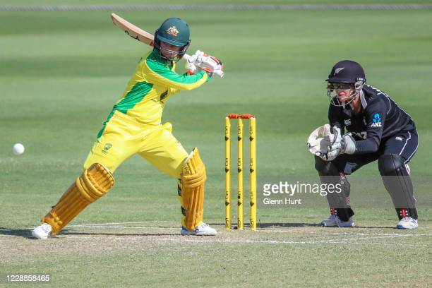 Rachel Haynes of Australia batting during game one in the women's One Day International Series between Australia and New Zealand at Allan Border...