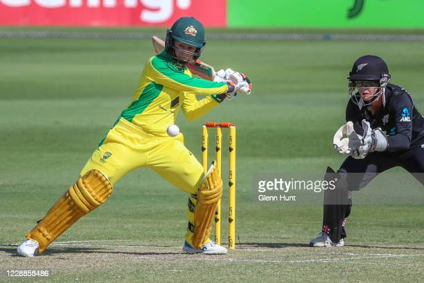 Rachel Haynes of Australia in action during game one in the women's One Day International Series between Australia and New Zealand at Allan Border...
