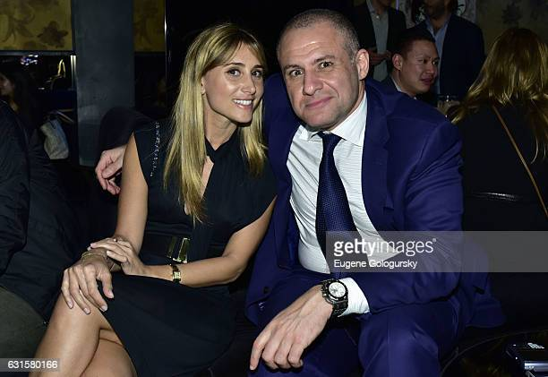 Rachel Heller and Ronn Torossian attend the Beautique x JetSmarter VIP Event Hosted by Talent Resources at Beautique on January 12, 2017 in New York...