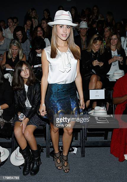 Rachel Heller attends the Ruffian fashion show during MercedesBenz Fashion Week Spring 2014 at The Studio at Lincoln Center on September 7 2013 in...