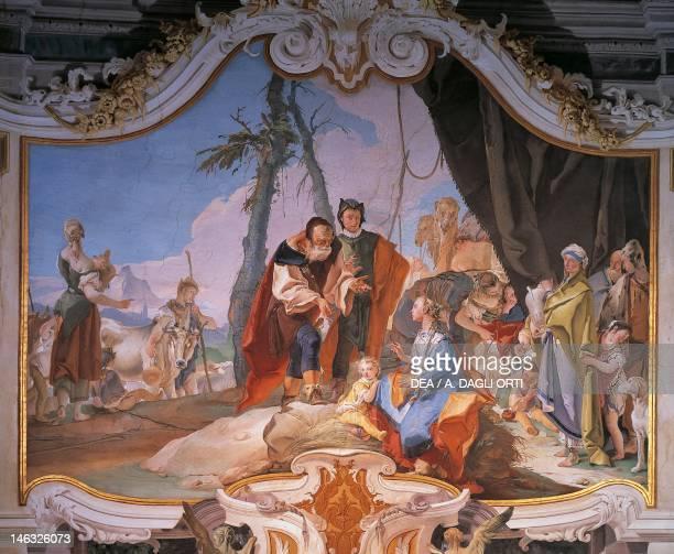 Rachel hiding the idols 17261739 by Giovanni Battista Tiepolo fresco Patriarchal Palace Guest Hall Udine