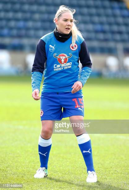 Rachel Honnudottir during the prematch warmup of Reading FC Women during The SSE Womens FA Cup Quarter Final match between Reading FC Women and...